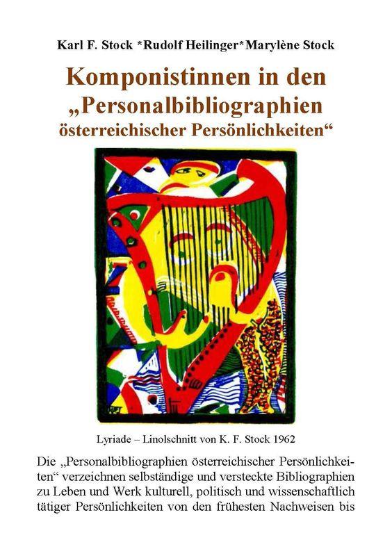 """Bucheinband von 'Komponistinnen in den """"Personalbibliographien österreichischer Persönlichkeiten""""'"""