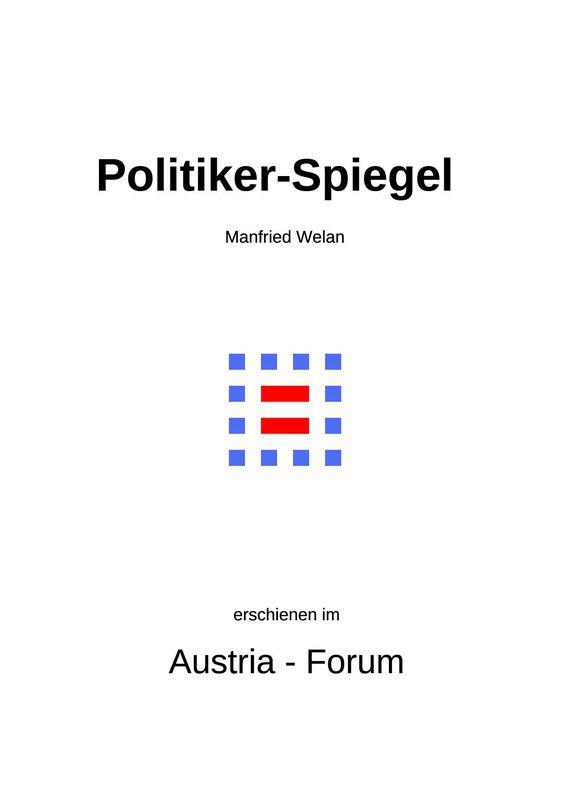 Bucheinband von 'Politiker-Spiegel - Eine Collage'