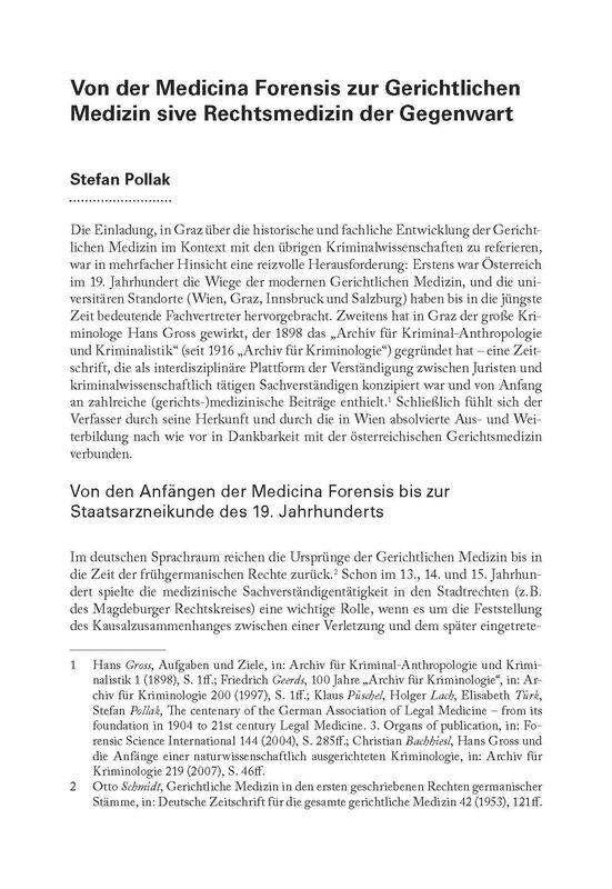 Bucheinband von 'Von der Medicina Forensis zur Gerichtlichen Medizin sive Rechtsmedizin der Gegenwart'