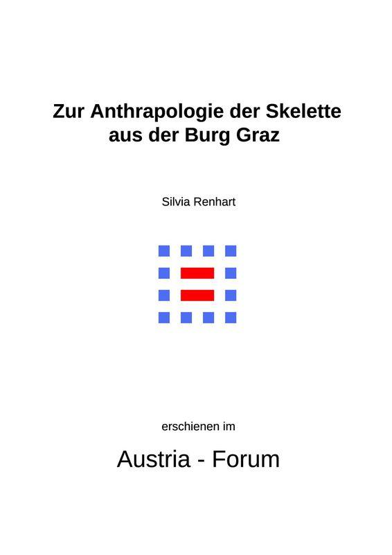 Bucheinband von 'Zur Anthropologie der Skelette aus der Burg in Graz'
