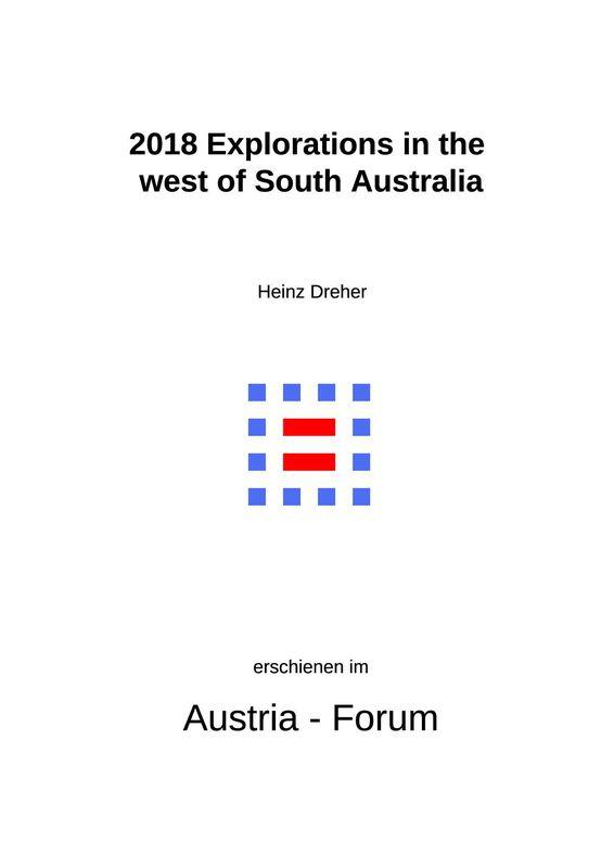 Bucheinband von '2018 Explorations in the  west of South Australia'