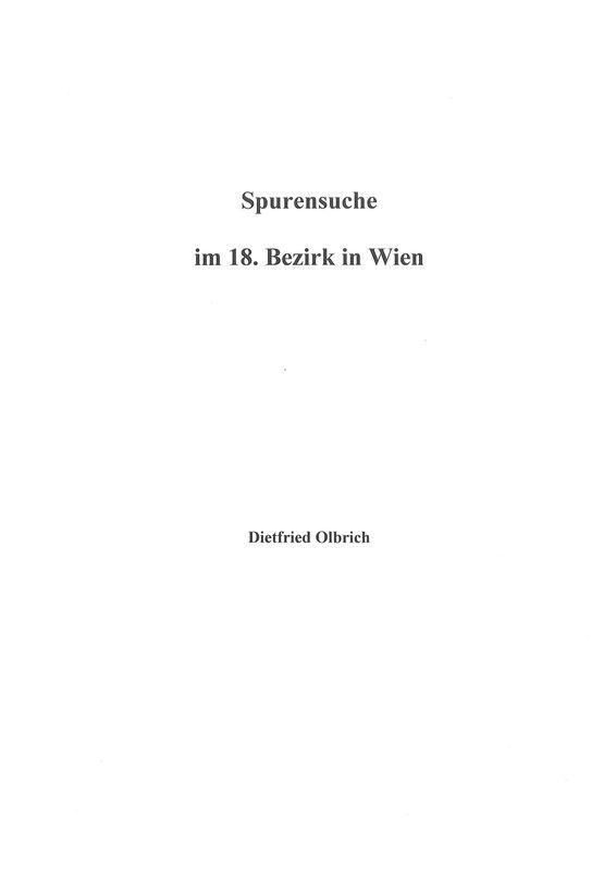 Bucheinband von 'Spurensuche im 18. Bezirk in Wien'