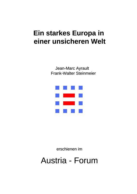 Bucheinband von 'Ein starkes Europa in einer unsicheren Welt'