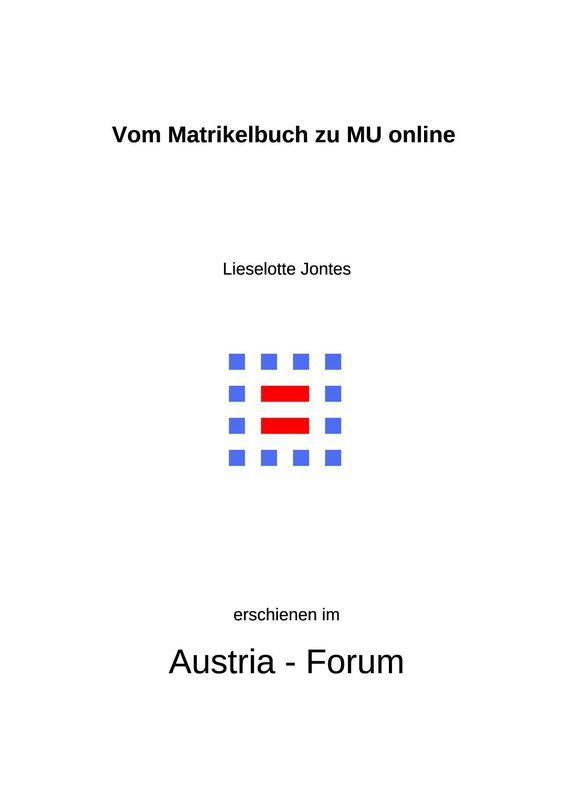Bucheinband von 'Vom Matrikelbuch zu MU online - Studieren in Leoben'