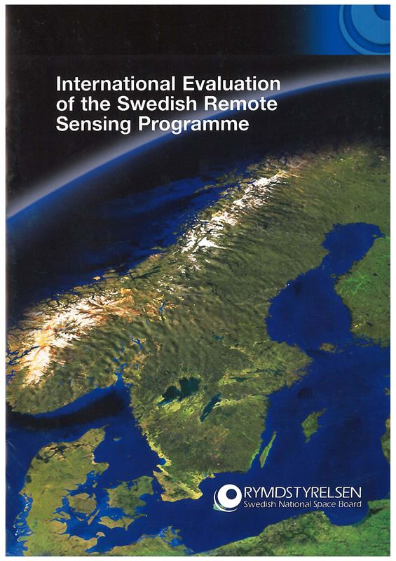 Cover of the book 'International Evaluation of the Swedish Remote Sensing Programme'