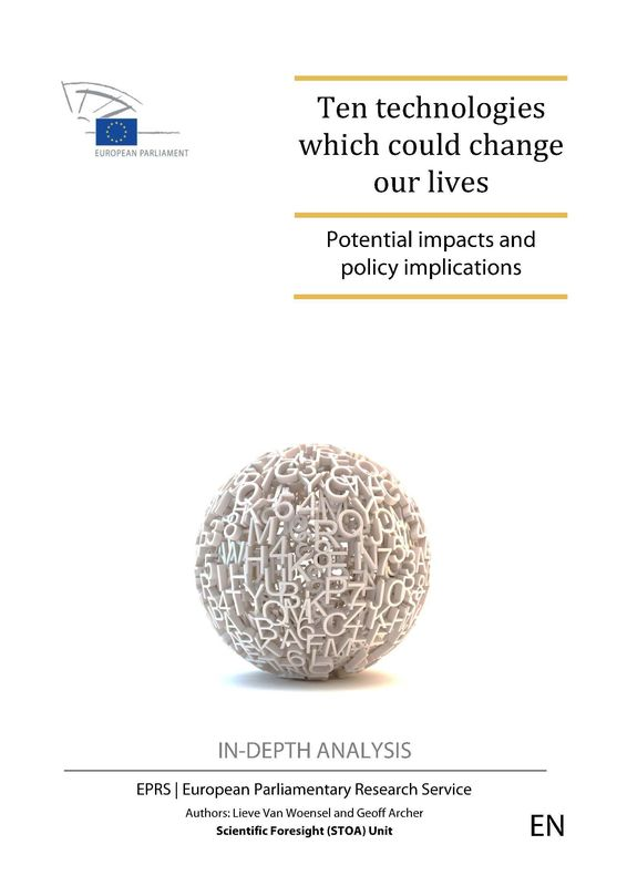 Bucheinband von 'Ten technologies which could change our lives - Potential impacts and policy implications'