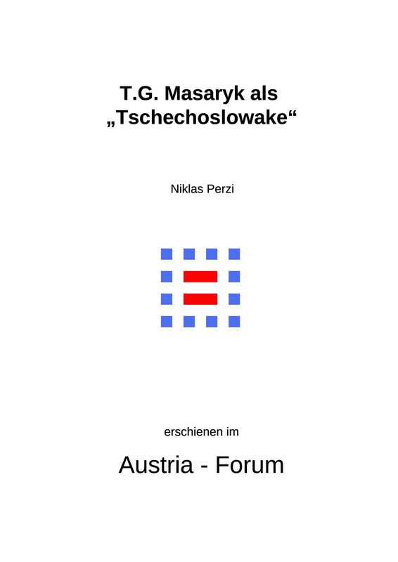 """Bucheinband von 'T.G. Masaryk als """"Tschechoslowake""""'"""