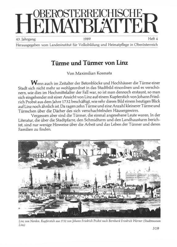 Bucheinband von 'Türme und Türmer von Linz'