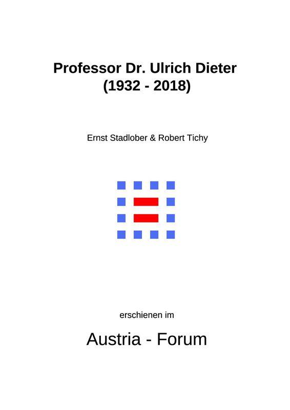 Bucheinband von 'Professor Dr. Ulrich Dieter (1932 -2018)'