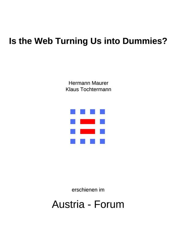 Bucheinband von 'Is the Web Turning Us into Dummies?'