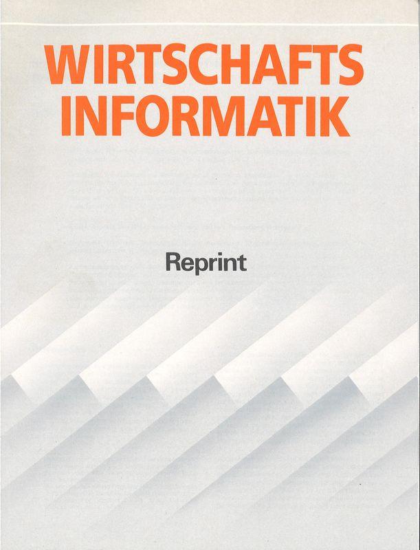 Bucheinband von 'Wirtschaftsinformatik - Some aspects of Hypermedia Systems and their treatment in Hyper-G'