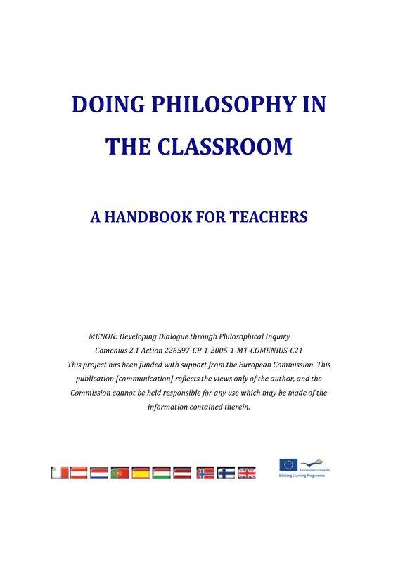 Bucheinband von 'Doing Philosophy in the Classroom - A Handbook for Teachers'