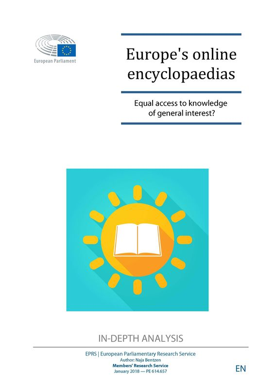 Cover of the book 'Europe's online encyclopaedias - Equal access to knowledge of general interest?'