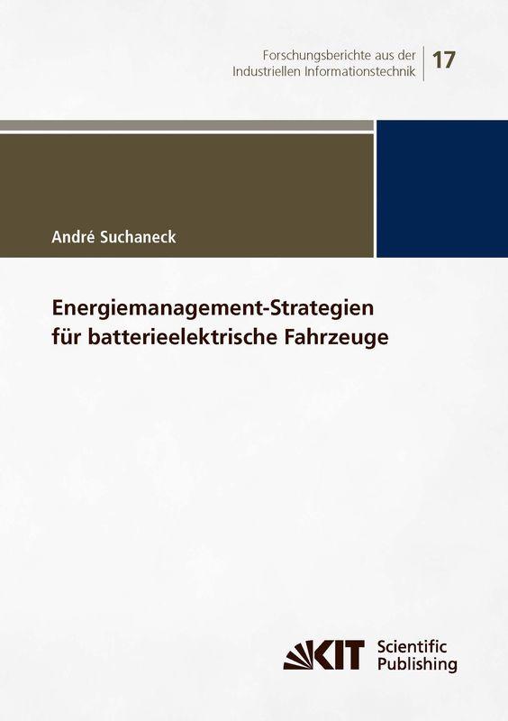 Bucheinband von 'Energiemanagement-Strategien für batterieelektrische Fahrzeuge'