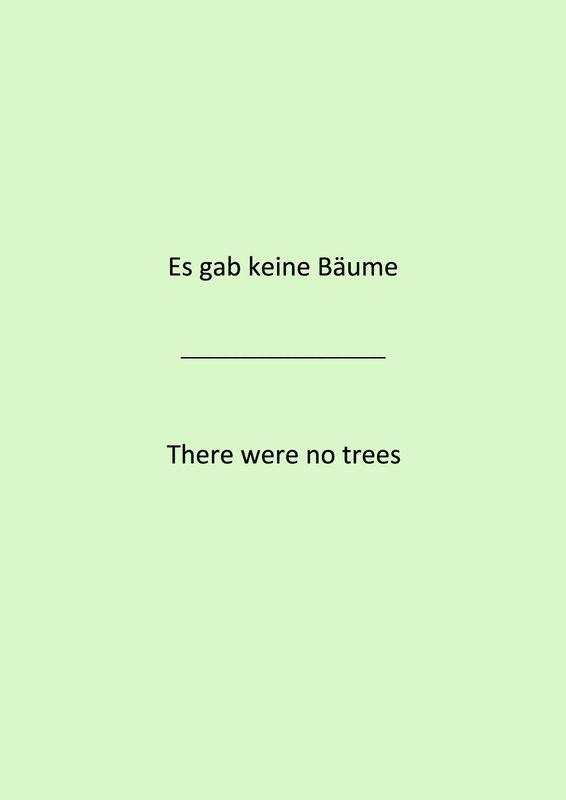 Bucheinband von 'Es gab keine Bäume - There were no trees'