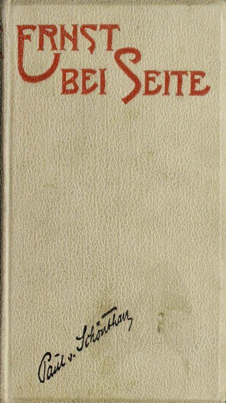 Bucheinband von 'Ernst bei Seite'