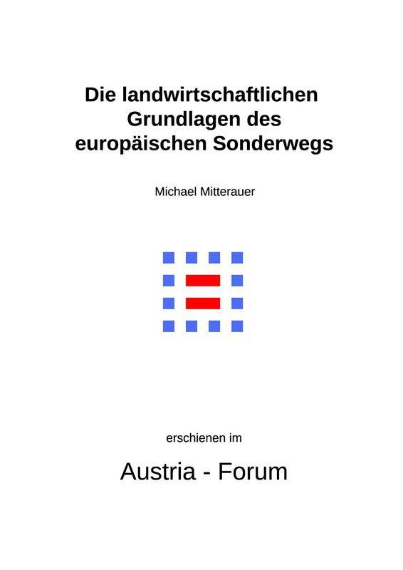 Bucheinband von 'Die landwirtschaftlichen Grundlagen des europäischen Sonderwegs'
