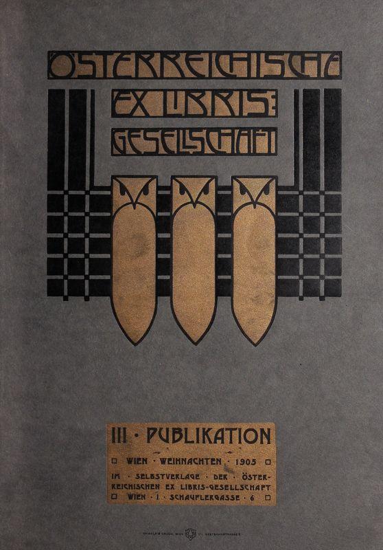 Bucheinband von 'Österreichische Exlibris - Gesellschaft - III. Publikation, Band III'