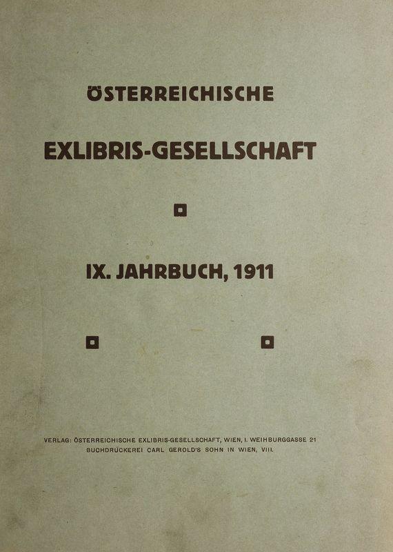 Bucheinband von 'Österreichische Exlibris - Gesellschaft - IX. Publikation, Band IX'