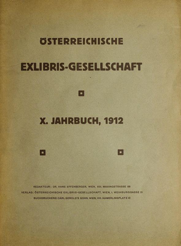 Bucheinband von 'Österreichische Exlibris - Gesellschaft - X. Publikation, Band X'