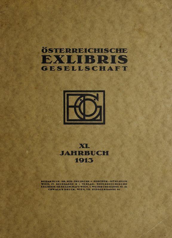 Bucheinband von 'Österreichische Exlibris - Gesellschaft - XI. Publikation, Band XI'
