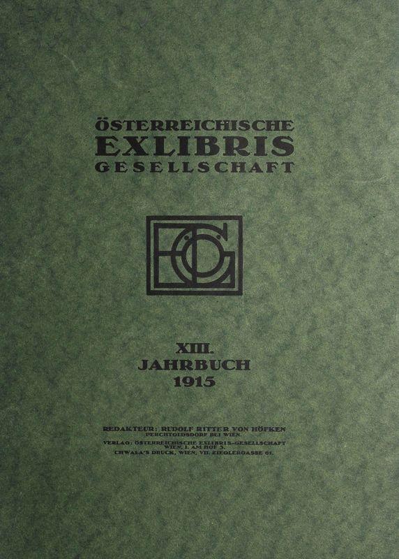 Bucheinband von 'Österreichische Exlibris - Gesellschaft - XIII. Publikation, Band XIII'