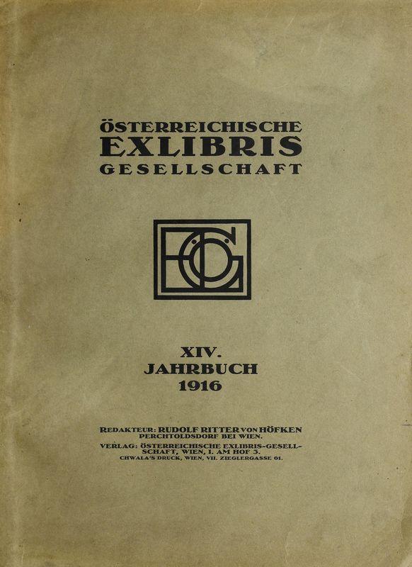 Bucheinband von 'Österreichische Exlibris - Gesellschaft - XIV. Publikation, Band XIV'