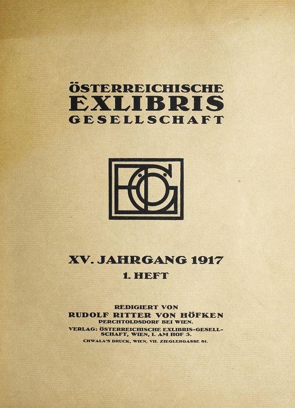 Bucheinband von 'Österreichische Exlibris - Gesellschaft - XV. Publikation, Band XV'