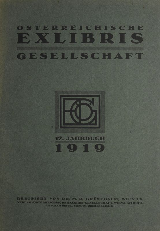 Bucheinband von 'Österreichische Exlibris - Gesellschaft - XVII. Publikation, Band XVII'