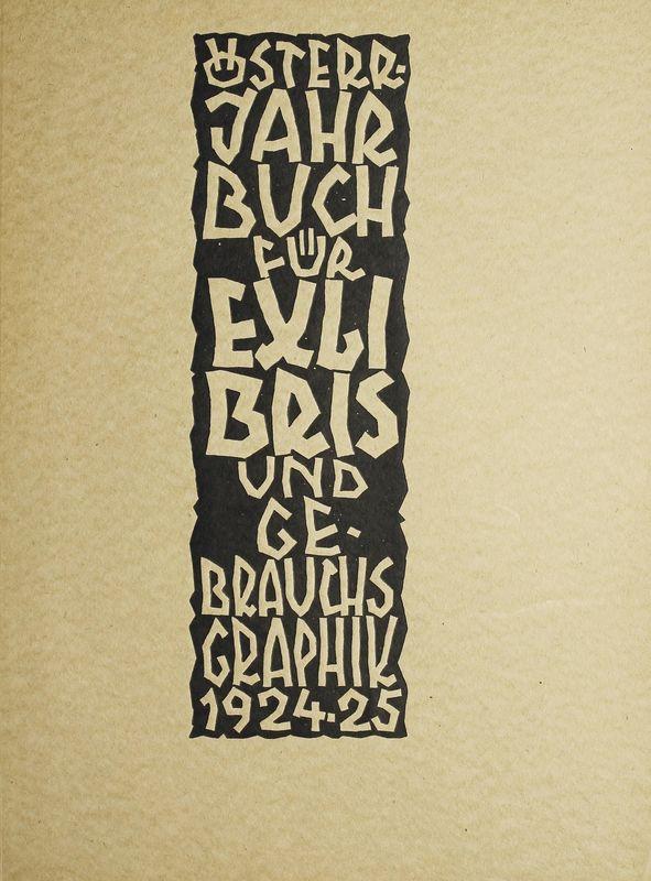 Bucheinband von 'Österreichisches Jahrbuch für Exlibris und Gebrauchsgraphik - 1924-25'