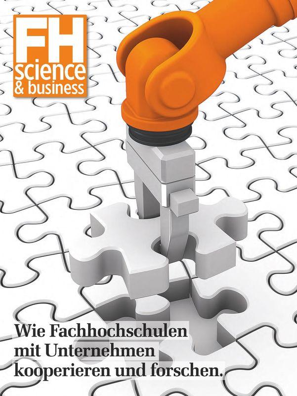 Bucheinband von 'FH science&business - Wie Fachhochschulen und Unternehmen kooperieren und forschen'