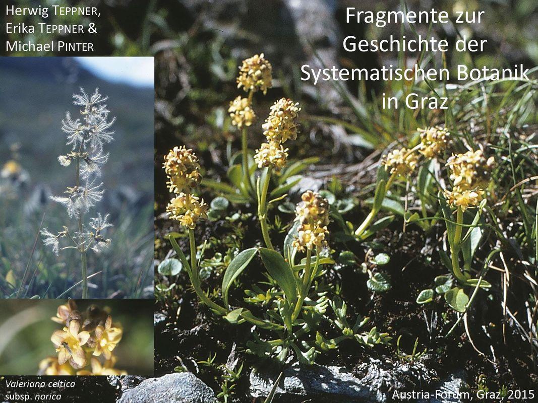 Bucheinband von 'Fragmente zur Geschichte der Systematischen Botanik in Graz'
