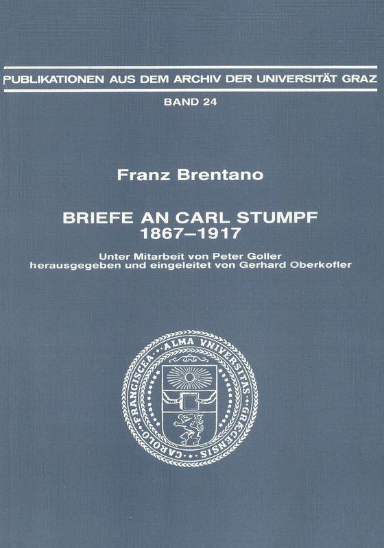 Bucheinband von 'Franz Brentano - Briefe an Carl Stumpf, 1867-1917, Band 24'