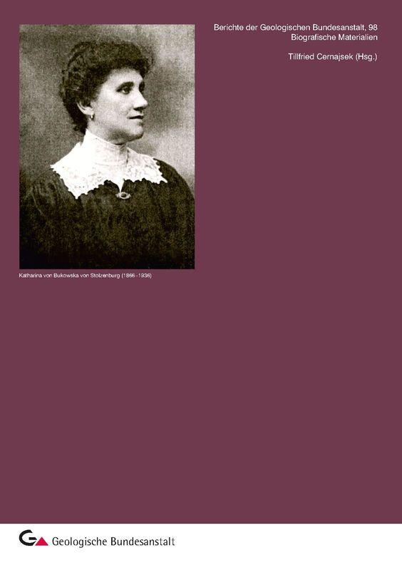 Bucheinband von 'Biografische Materialien - Katharina von Bukowska von Stolzenburg (1866–1936)'