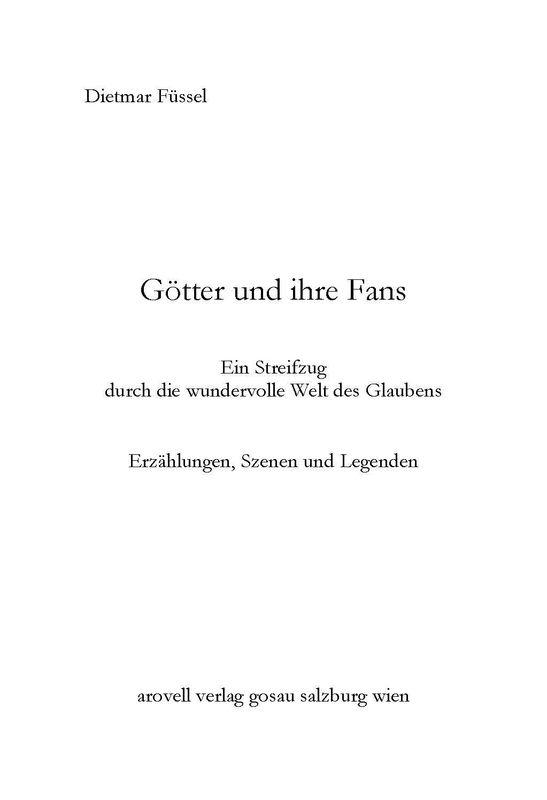 Bucheinband von 'Götter und ihre Fans - Ein Streifzug durch die wundervolle Welt des Glaubens'
