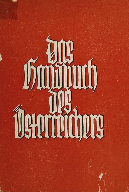 Bucheinband von 'Das Handbuch des Österreichers'