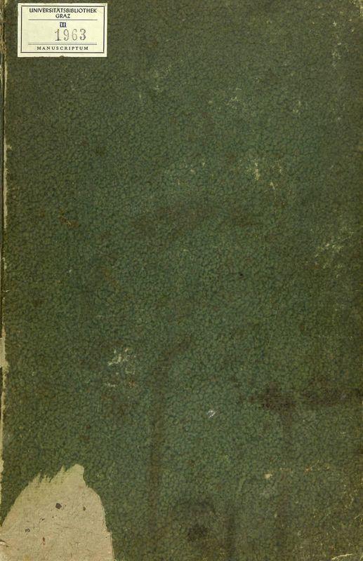 Bucheinband von 'Handschriftliches Kochbuch - Anno 1818'