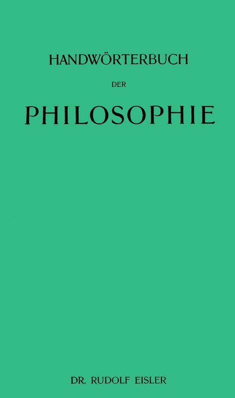 Bucheinband von 'Handwörterbuch der Philosophie'