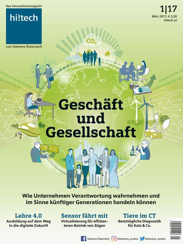 Cover of the book 'hi!tech - Das Innovationsmagazin von Siemens Österreich, Volume 1|17'