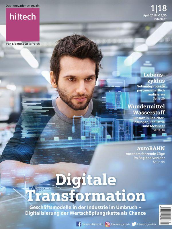 Bucheinband von hi!tech - Das Innovationsmagazin von Siemens Österreich, Band 1|18