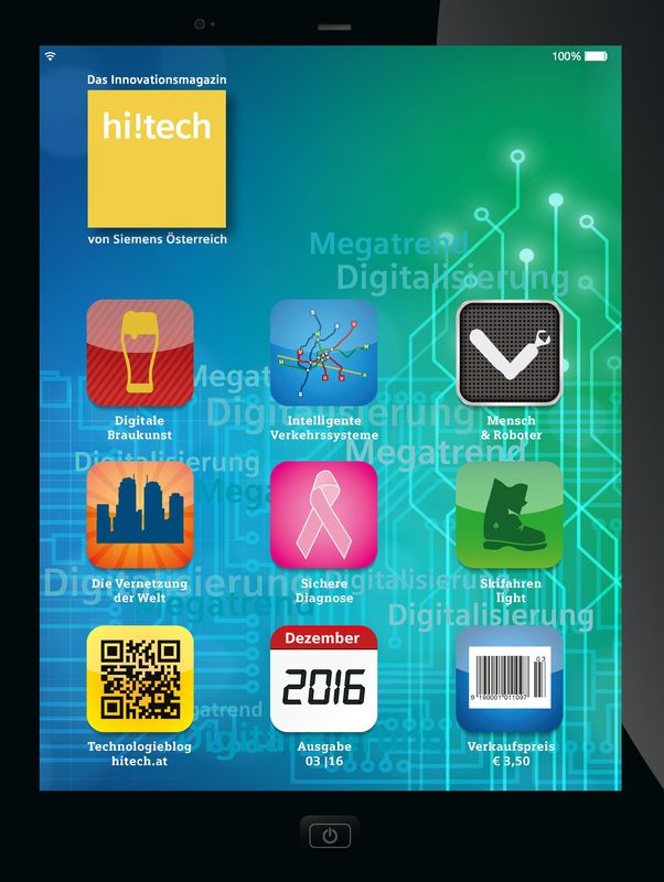 Bucheinband von 'hi!tech - Das Innovationsmagazin von Siemens Österreich, Band 3|16'