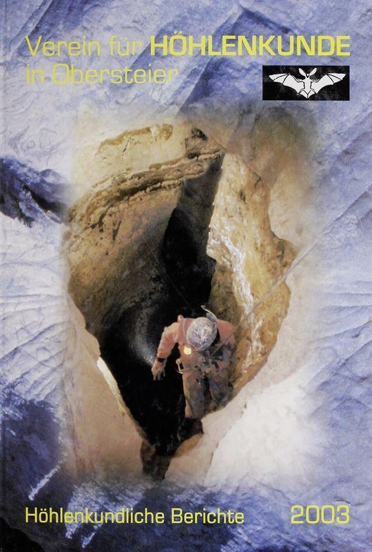Bucheinband von 'Höhlenkundliche Berichte 2003'