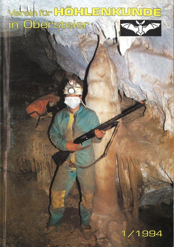Bucheinband von Mitteilungen des Vereines für Höhlenkunde in Obersteier 1994, Band 1/1994