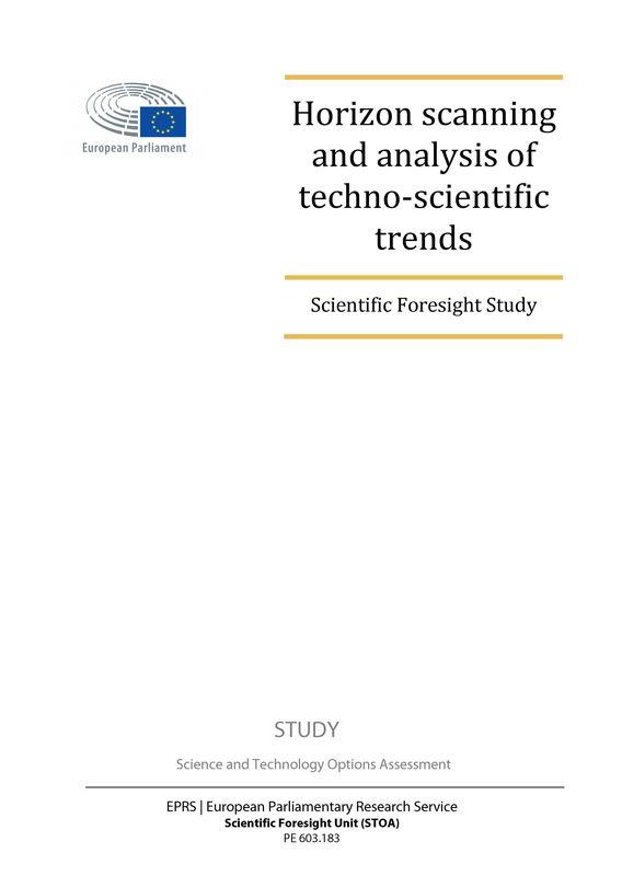 Bucheinband von 'Horizon scanning and analysis of techno-scientific trends - Scientific Foresight Study'
