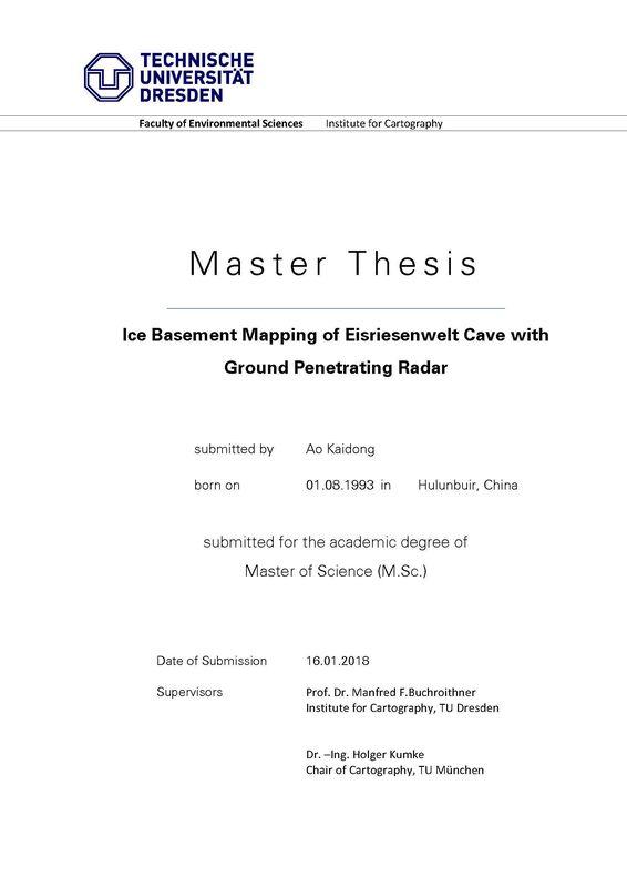 Bucheinband von Ice Basement Mapping of Eisriesenwelt Cave with Ground Penetrating Radar