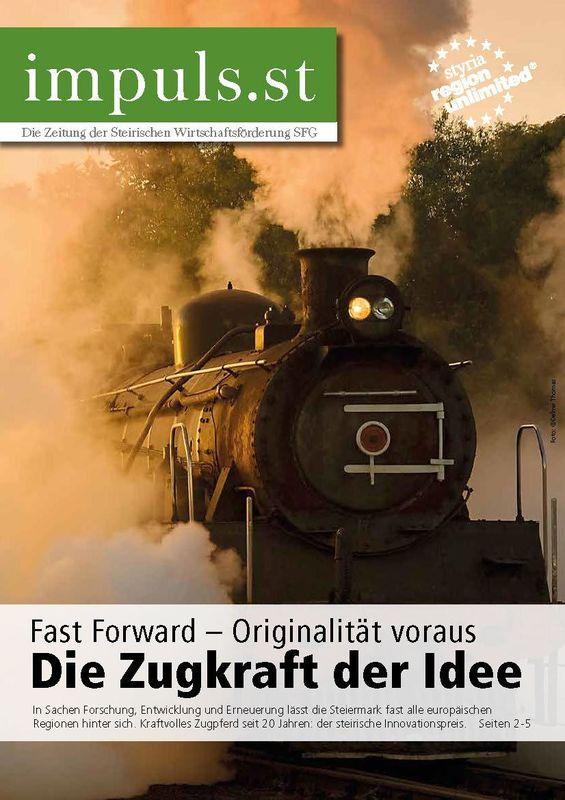Bucheinband von 'impuls.st - Die Zeitung der Steirischen Wirtschaftsförderung SFG, Band 02/15'