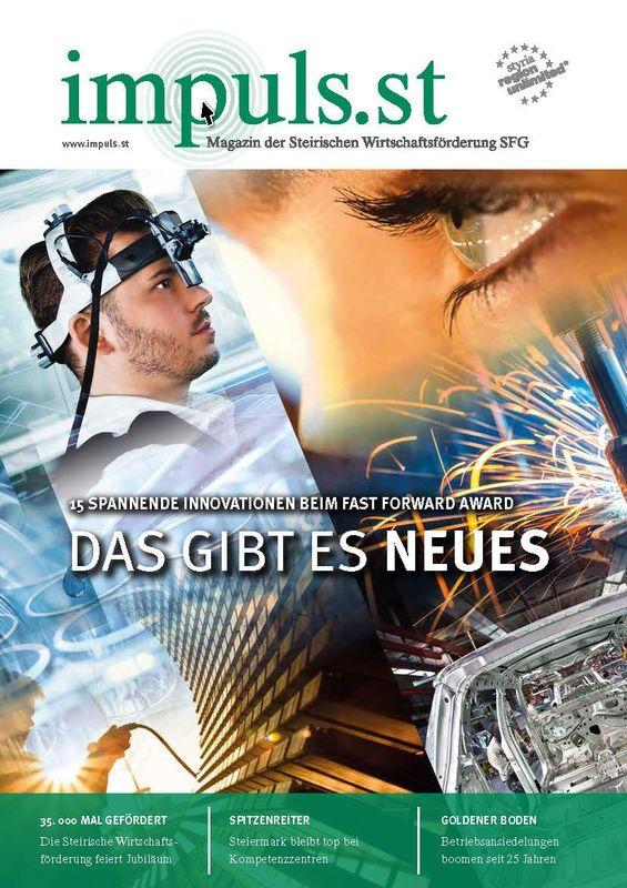 Bucheinband von 'impuls.st - Magazin der Steirischen Wirtschaftsförderung SFG, Band 02/16'