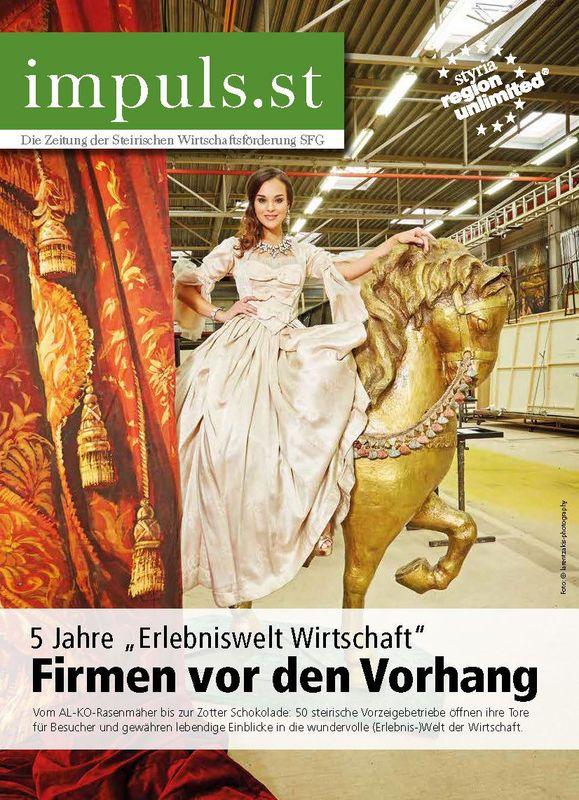 Bucheinband von 'impuls.st - Die Zeitung der Steirischen Wirtschaftsförderung SFG, Band 03/15'