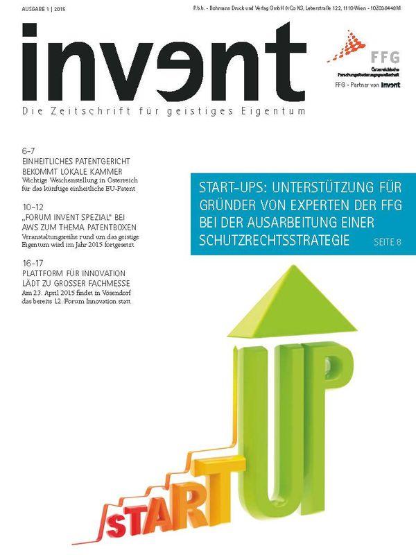 Bucheinband von 'invent - Die Zeitschrift für geistiges Eigentum, Band 1 2015'