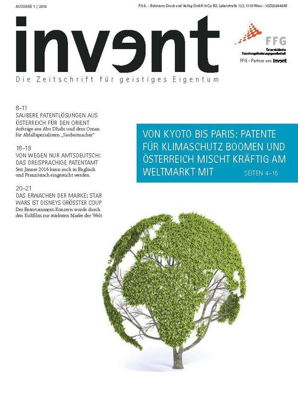 Bucheinband von 'invent - Die Zeitschrift für geistiges Eigentum, Band 1|2016'